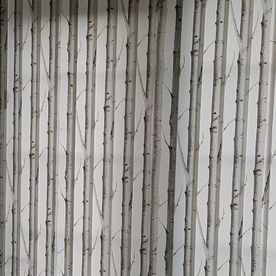 Woodland silver birch styled vertical blinds