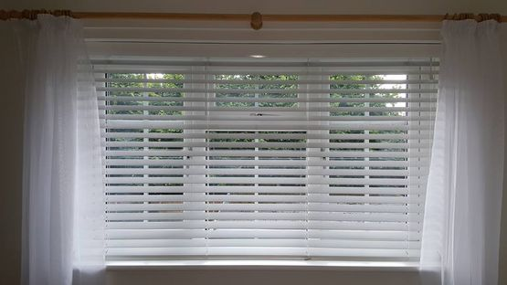 White Venetian blinds installed in stoke-on-trent