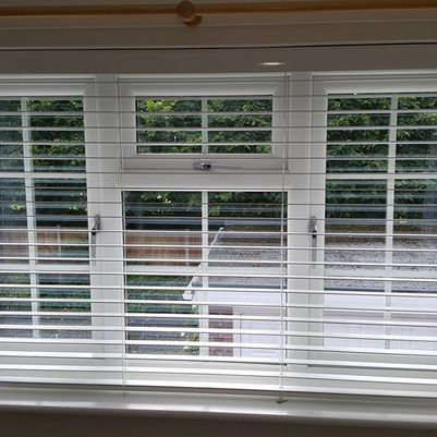 Venetian blinds installed in a home in stoke