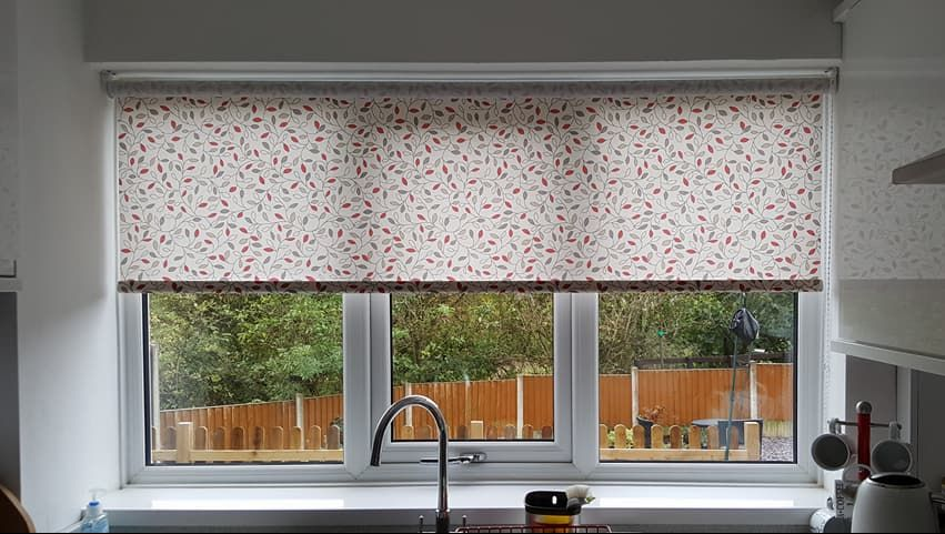 dotted roller blinds installed in a home in stoke on trent