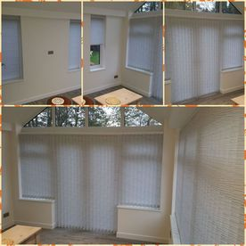Collage of vertical blinds showing off the expert fitment